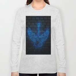 Guitar Neon Style Long Sleeve T-shirt