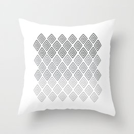 Diamonds, Grey Throw Pillow