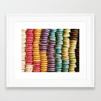 macarons Framed Art Prints featuring Macarons by Jessica Giles