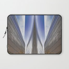 Architectural Abstract of a metal clad building looking skyward Laptop Sleeve