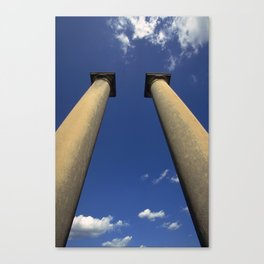 Columns Under Sky Canvas Print