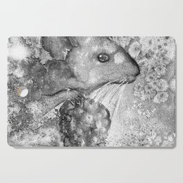 black and white : mouse Cutting Board