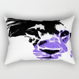 Africa Lion : Purple Rectangular Pillow