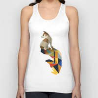 jack russell Tank Tops featuring Walking Shadow, Jack Russell by Jason Ratliff