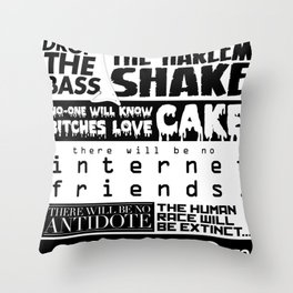 EDM death machine Throw Pillow