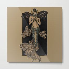 Mermaid folies 5 Metal Print