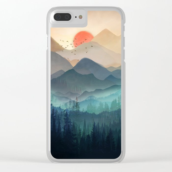 Wilderness Becomes Alive at Night Clear iPhone Case