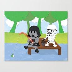 SW Kids - Darth Fishing Canvas Print