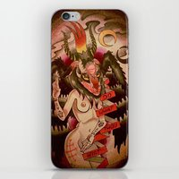tits iPhone & iPod Skins featuring Baphomet....With Tits by kate collins