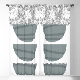 Mid Century Modern Abstract Forms Blackout Curtain