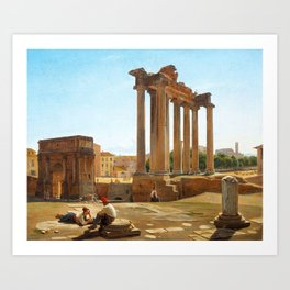 Constantin Hansen - Roman Forum Art Print
