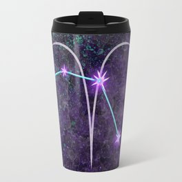 Aries Zodiac Constellation Design Travel Mug