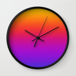 Colorful Gradient Pattern Neon Abstract Rainbow Wall Clock