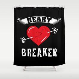 Heart Breaker | Valentine's Day Shower Curtain