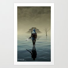 The hardest battle lies within (Blue Tunic Variant) Art Print