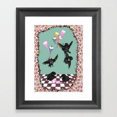 Crow Serie :: Eye Balloons (cria cuervos y te sacaran los ojos) Framed Art Print