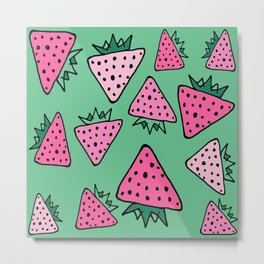 strawberry green Metal Print