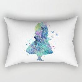 Watercolor Slatter Alice In Wonderland Rectangular Pillow