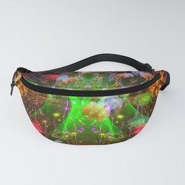 Bioluminescent Plankton and Jellyfish Fanny Pack