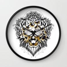 Gold Eyed Tiger Wall Clock