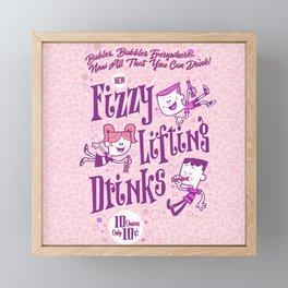 fizzy lifting Framed Mini Art Print