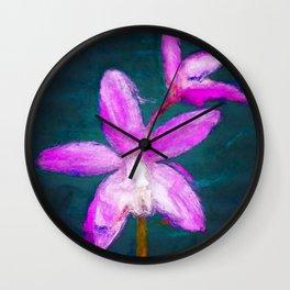Laelia ghillanyi Orchid Wall Clock