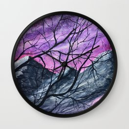 Beauty Through the Trees Original Watercolor Wall Clock