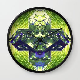 Palm Prism Original Artwork by Rachael Rice Wall Clock