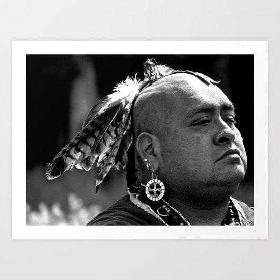 Cherokee Warrior Art Print
