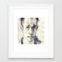 kerouac Framed Art Prints featuring Jack Kerouac by Germania Marquez