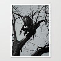 werewolf Canvas Prints featuring Werewolf by Alex Perkins