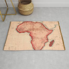 Map Of Africa 1844 Rug