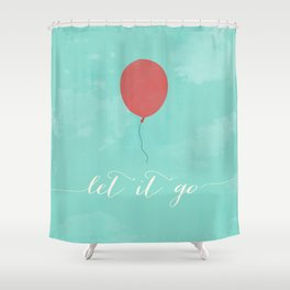 LET IT GO - RED BALLOON Shower Curtain