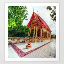 Thai Temple Shrine Art Print