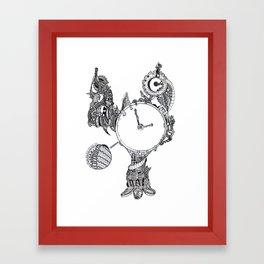 Tick Tock Clock Framed Art Print