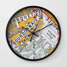 Paris Streets 2 Wall Clock