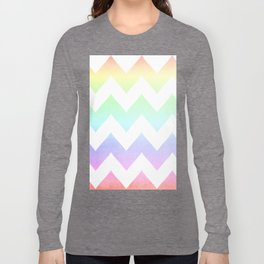 Watercolor Chevrons Long Sleeve T-shirt