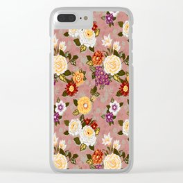 flowerily - pink Clear iPhone Case