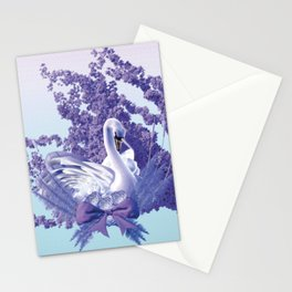 graceful swan Stationery Cards