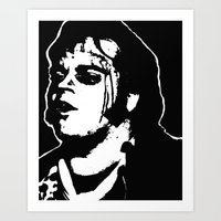 rocky horror picture show Art Prints featuring Eddie (Rocky Horror Picture Show) by Blake Lee Ferguson