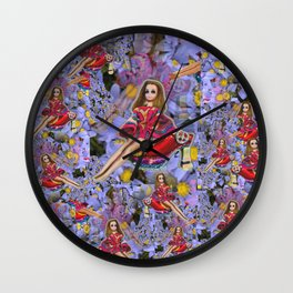 JOuRNeY into WONDERLAND, get WOWED by tHE wHImSiCal PEaCOck! Wall Clock