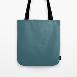 Solid Colors Series - Dark Desaturated Cyan Tote Bag