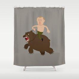 Putin Rider Shower Curtain