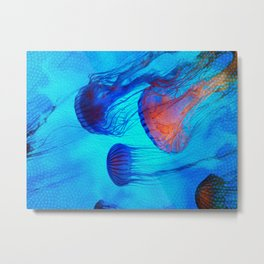 Watch the Flow of the Jelly Glow  Metal Print