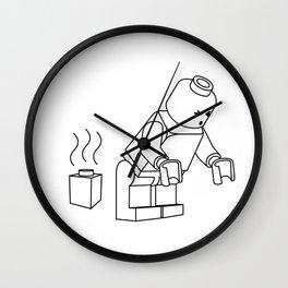 LEGO Shitting Bricks [no text] Wall Clock