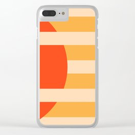 GEOMETRY ORANGE I Clear iPhone Case