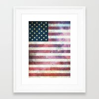 patriotic Framed Art Prints featuring PATRIOTIC by alfboc