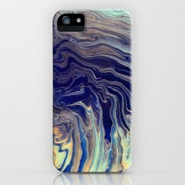 Blue and Gold Abstract iPhone Case