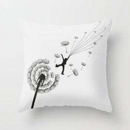 Free Dandelion Throw Pillow
