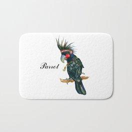 Chief Black parrot Bath Mat